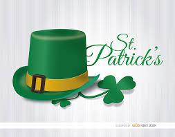 st patrick u0027s hat shamrock wallpaper vector download