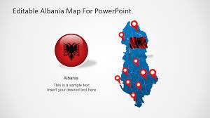 Map Of Albania Editable Albania Powerpoint Map Slidemodel