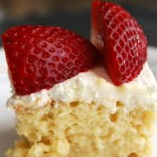 tres leches cake with whipped cream frosting tastespotting