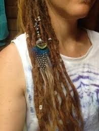 dreadlock accessories dreadlocks feather bead rooster brass spiral moonstone