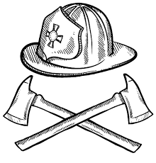 firefighter helmet axes maltese cross coloring pages batch