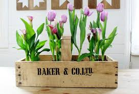Wooden Flowers How To Build A Farmhouse Rustic Handled Wooden Crate From Pallet