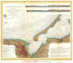Nantucket Map File 1866 U S Coast Survey Map Of Nantucket Harbor Nantucket