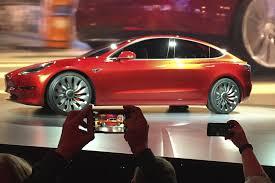 tesla electric car tesla says its model 3 electric u0027car for the masses u0027 will go on