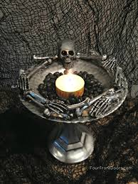 Skeleton Halloween Crafts Four Front Doors Skeleton Dish Diy