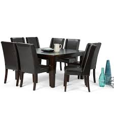 dining room sets 9 piece simpli home sotheby 9 piece tanners brown dining set axcds9sb br