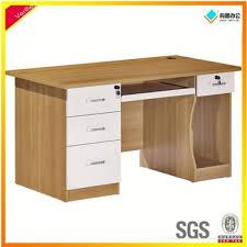 Computer Desk Workstation Simple Design Home Office Computer Desk Workstation Pine Wood