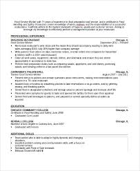 Waitress Responsibilities Resume Samples by Waitress Resume Restaurant Waitress Resume Sample Resume Sample