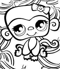 coloriage a imprimer petshop singe gratuit et colorier
