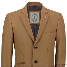 new mens vintage wool 3 4 long camel grey over coat tweed crombie