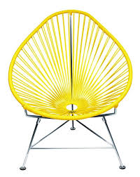 Yellow Patio Chairs Innit Designs Acapulco Chair Yellow Weave On Chrome