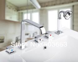 new deck mount chrome waterfall abs ceramic hand spray bathroom new deck mount chrome waterfall abs ceramic hand spray bathroom bath tub faucet w