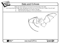 bats and echoes 2nd 4th grade worksheet lesson planet