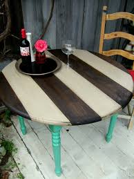 Best Outdoor Wood Furniture Stain Striped Stain Top With Colorful Legs Love It Furniture