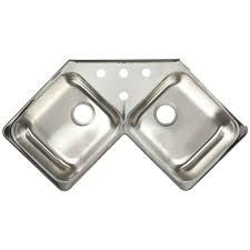 Kitchen Sinks Top Mount by Franke Drop In Stainless Steel 43x23x8 4 Hole 20 Gauge Double