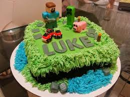 swaggy simple cakes minecraft fondant cake