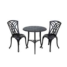 Black Patio Chairs by Newport Aluminum Bistro Patio Set Newport Bistro Set Black