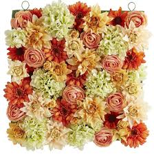 flower metal wall sculptures touch of class peach hydrangea