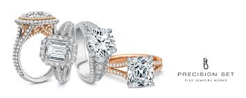 precision set rings precision set jewelry works jb hudson jewelers