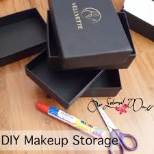 Diy Storage Box by Diy Makeup Storage Box Tutorial Using Old Boxes