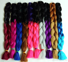 wholesale colorful super x pression jumbo braiding hair ombre