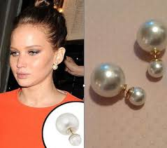 front to back earrings unique pearl stud earrings front back small and big pearl