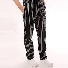 pantalon cuisine homme pantalon de cuisine é noir et blanc ceinture élastique ego chef
