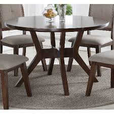 rc willey kitchen table espresso 48 inch round dining table barney rc willey furniture store