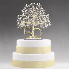 50th cake topper 50th anniversary cake topper keepsake tree cake toppers by apryl