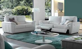 canap relax moderne design interieur salon moderne canapés relax blancs tapis turquoise