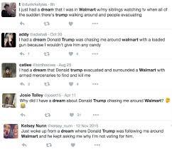 people are having disturbingly similar dreams about donald trump