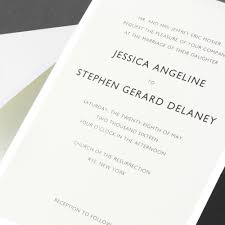 vera wang pearl bordered wedding invitation sample invitation