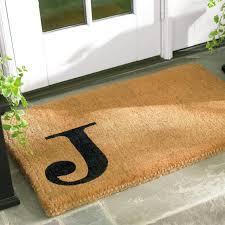 Coco Doormat Offset Monogram Coco Mat Grandin Road