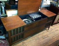 vintage record player cabinet values record player console new mid century modern record player console