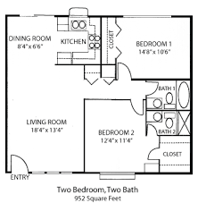 two bedroom two bath floor plans tiny house single floor plans 2 bedrooms bedroom house plans two