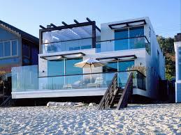 exterior fresh beach house designs ideas minimalist style glass
