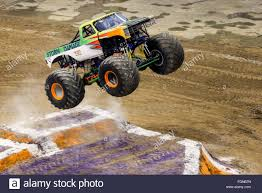 all monster jam trucks new orleans la usa 20th feb 2016 storm damage monster truck