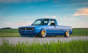 stanced trucks built to drive the dub dynasty 1981 vw caddy u2013 slam u0027d mag