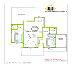 2 story house design and plan 2485 sq feet indian house plans