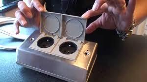 prise pour ilot central cuisine bloc deux prises ilot cuisine avec clapet