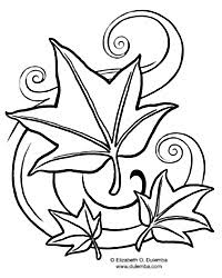 Dulemba Coloring Page Tuesday Fall Leaves Coloring Pages For September