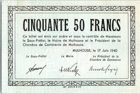chambre commerce mulhouse banknote 50 francs mulhouse chambre de commerce série c
