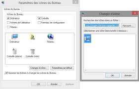 changer icone bureau comment changer les icônes du bureau windows justgeek