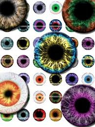 25mm collage sheet of evil eye designs for cabochon and jewelry