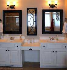 Bathroom Vanity Makeup Area by Bathrooms Design Master Bath With Makeup Area Double Sink