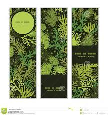 vector evergreen tree vertical banners stock vector