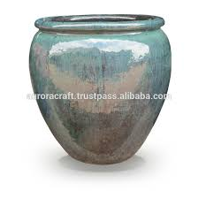 indoor pot ceramic glazed pottery planter planters indoor pot