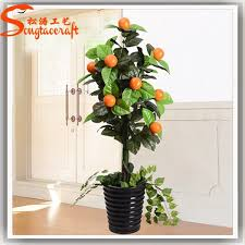 indoor cheap decorative artificial orange tree artificial fruit