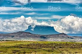 Table Top Mountain by Tabletop Mountain Yuruani Tepuy The Lost World Stock Photo