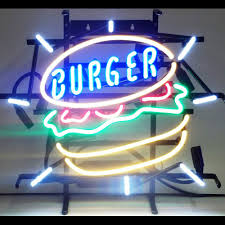 burger neon sign 100 made in usa manufactured by neonetics